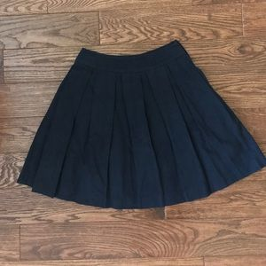 FRENCH CONNECTION navy high waist skirt